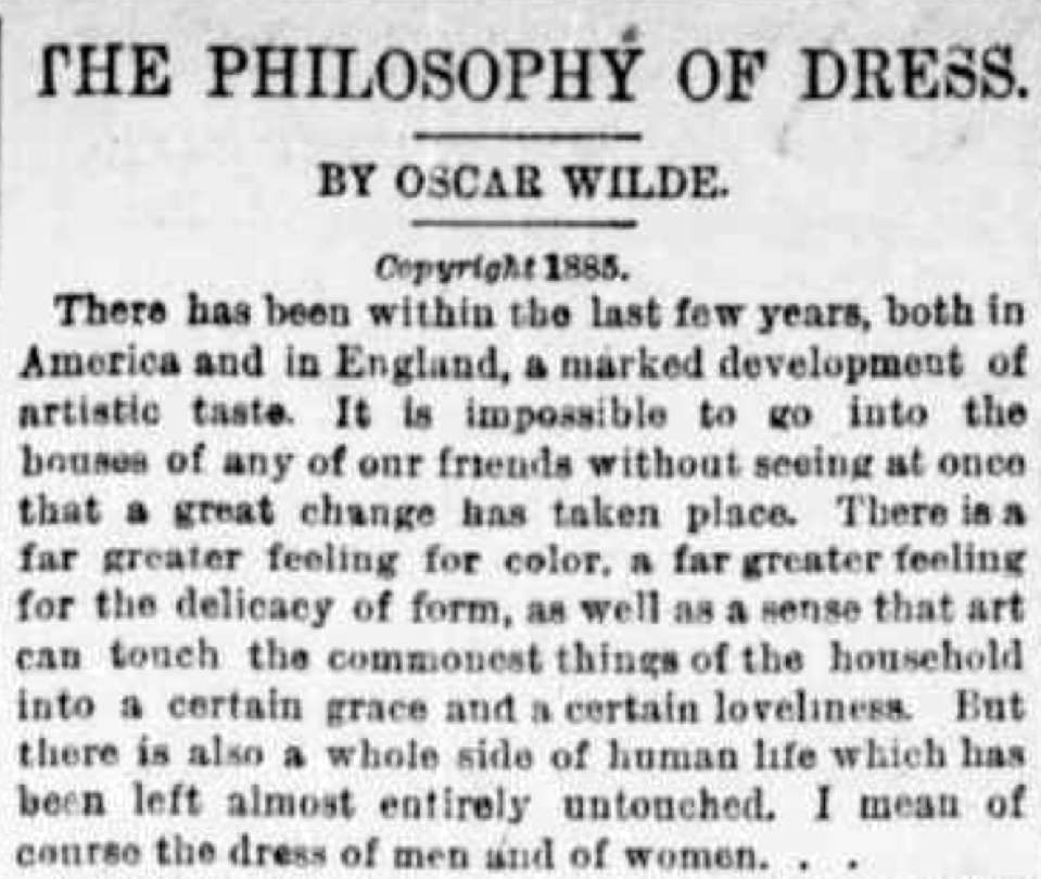 oscar wilde in america american ephemera  an essay wilde wrote for the new york tribune in 1885