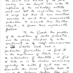 A fragment of Wilde's manuscript notes for his first lecture:  The English Renaissance